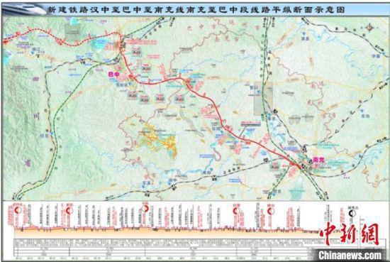 汉巴南高铁规划图。 中铁五院供图