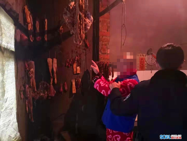 """巴中男子偷腊肉欲过""""肥年"""" 被警方抓获"""