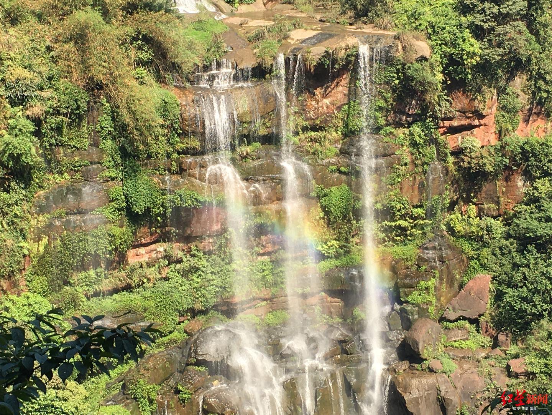 第四级瀑布彩虹