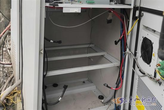 基站内的蓄电池被盗一空