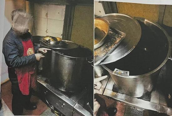 """成都一串串香店使用""""地溝油"""" 老板廚師均遭起"""