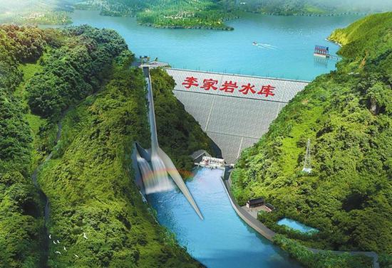 李家岩大坝鸟瞰效果图。 四川日报资料图
