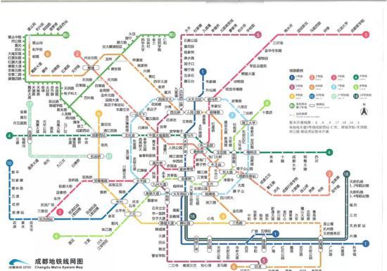 成都地铁线网图