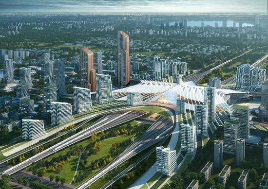 成都最大规模TOD天府新站来了 同时还有中国首个企业家小镇