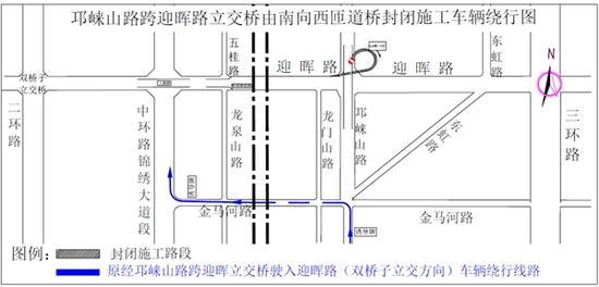 往成都东站的司机注意 迎晖路周边多条道路因施工将封闭