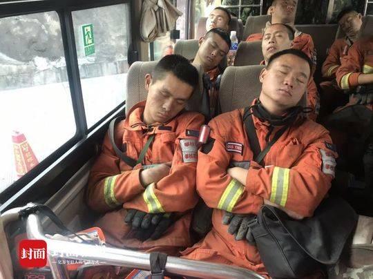 连夜奋战7小时 四川攀枝花森林消防员们终于可以休息一下了