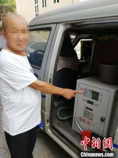 犯罪嫌疑人指认现场。达川公安供图