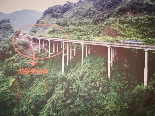 受地质灾害影响,雅西高速瓦厂坪大桥正在整治中。