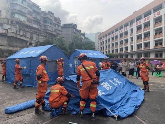 徒步十五公里 自贡消防走进宜宾珙县珙泉镇开展救援
