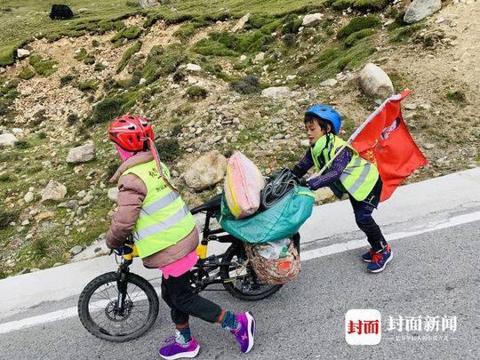 38天骑行2200公里 四川小姐弟跟父亲穿越川藏线
