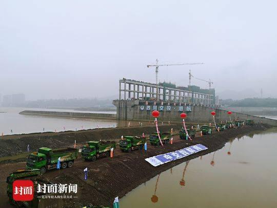 岷江犍为航电枢纽三期围堰完成截流 年内将实现通航