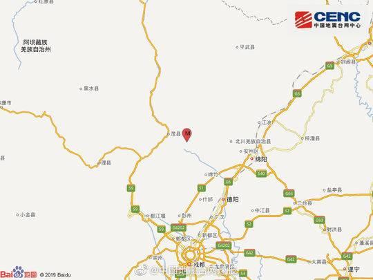 四川德阳市绵竹市发生2.8级地震