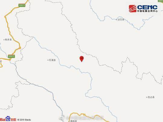 四川甘孜州石渠县发生4.3级地震
