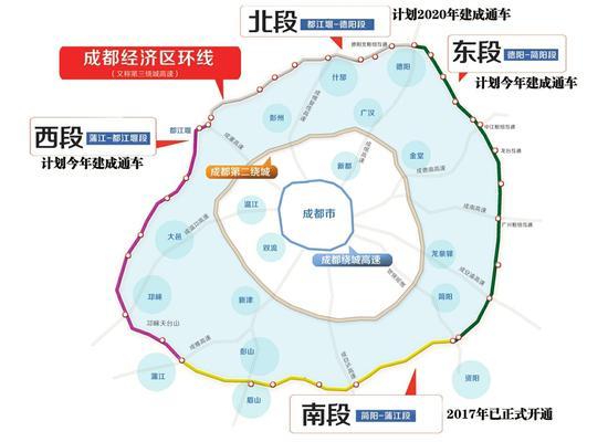 成都三绕蒲江-都江堰段开始路面铺装 计划年内建成通车