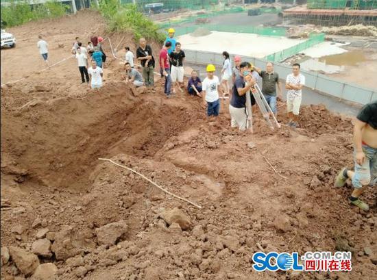 四川安岳一工地现无名古墓 曾在同地发现过宋代墓葬