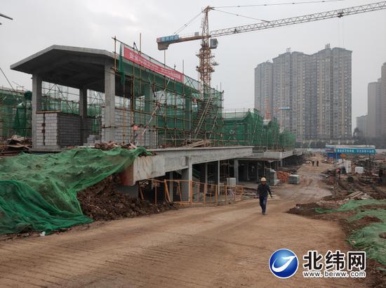 高颐阙文博公园项目建设现场