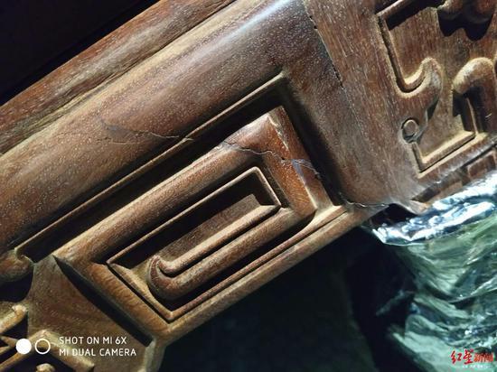 4万多元海南买的红木家具缺胳膊断腿 谁来赔
