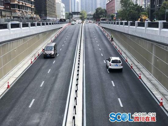 磨子桥下穿建成通车 未来直接经隧道进成都音乐厅
