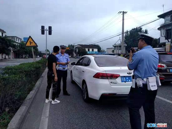 羅江交警緝查布控讓套牌車現原形 一查還是個違章戶