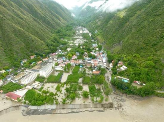 金川曾达乡(6月27日)发生山洪泥石流