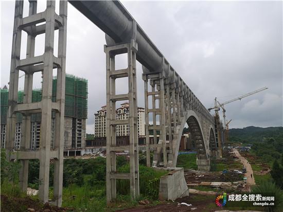 毗河供水工程卢家坝渡槽