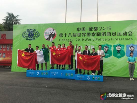 成都民警组成的两个参赛团队均获得奖牌