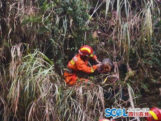 砍柴时不慎失足 邻水八旬老人被困在山坡4小时之久