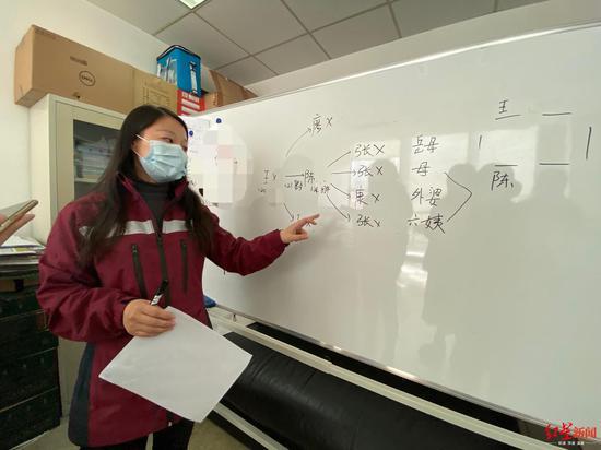↑疾控中心流调组成员周蓉在给大家分析流调案例