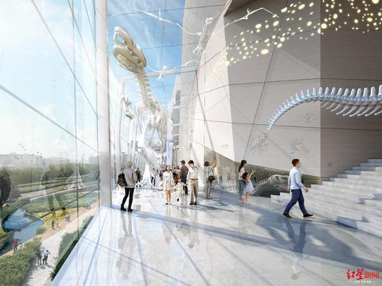 成都自然博物馆主体结构完工 明年6月迎客