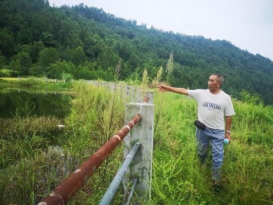 部分村民吃水的堰塘