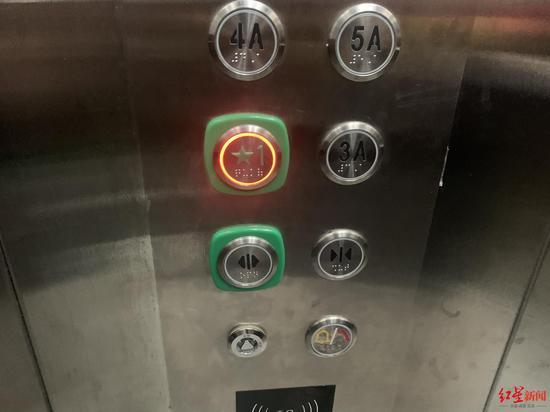 ↑没有2层电梯按钮。