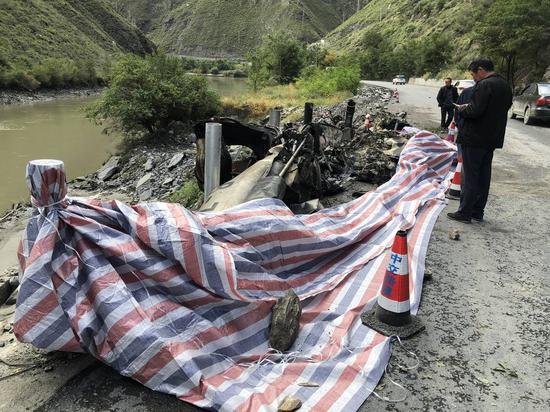 黑水直升机坠毁现场:事发常有乱流的高原峡谷