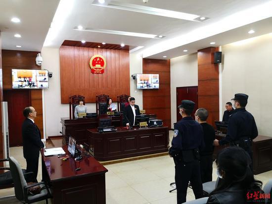 ↑庭审现场。