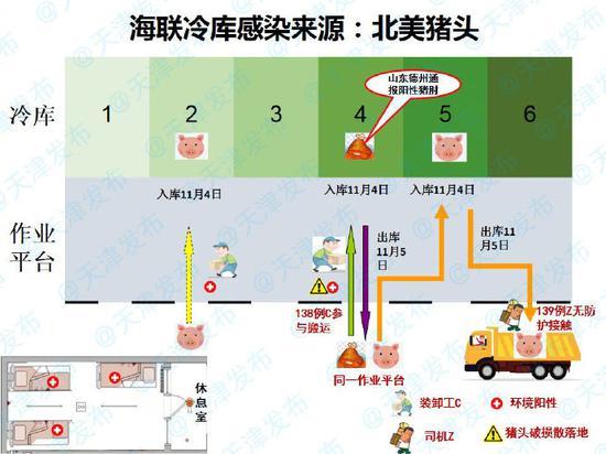 天津海联冷库疫情细节:装卸工搬运猪头、司机捡猪头致感染