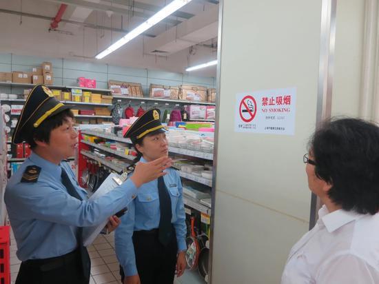 2020年,上海有关控烟监管执法部门共检查单位395208家,处罚单位683家。上海市健康促进中心供图