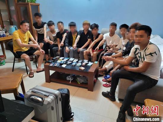 广西北海警方打掉一电诈团伙 抓获28名涉案人员