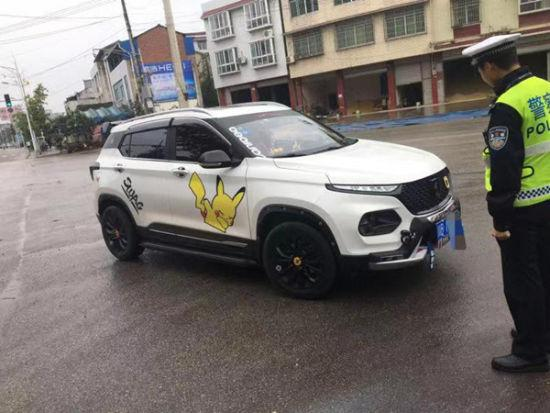 查获的改装车辆。 梓潼县交警大队供图
