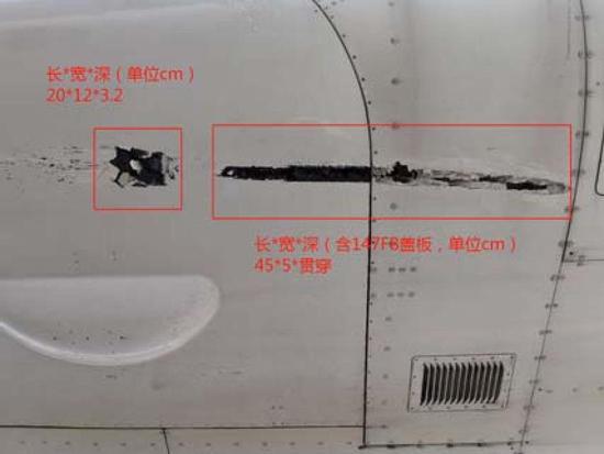 机身多部位受伤(图片来自报告)