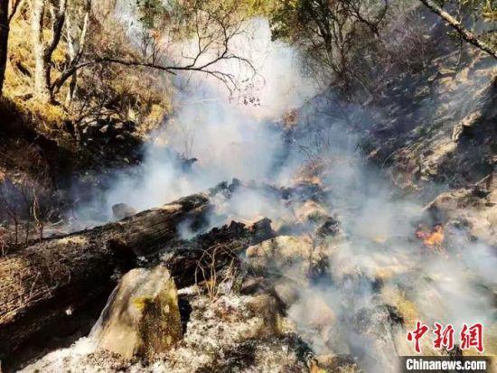 四川九龙县森林火灾:村民送酥油茶捐物资支援灭火前线