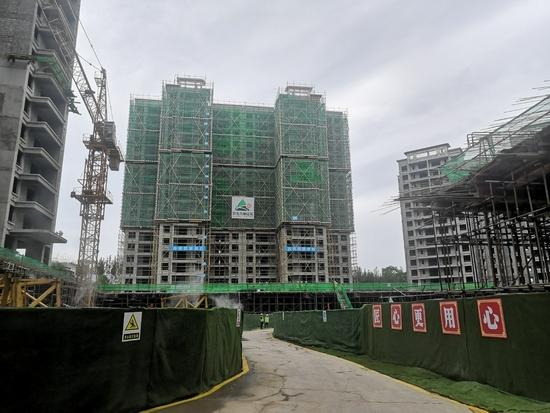 资阳市阳光十里江湾项目已经整治完毕,图为项目工地现场