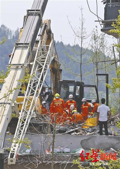 ↑事故发生后的救援现场。