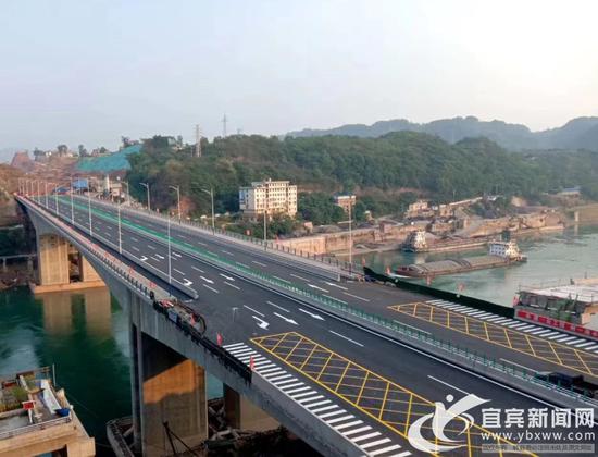 宜宾叙州区普和金沙江特大桥全面完工