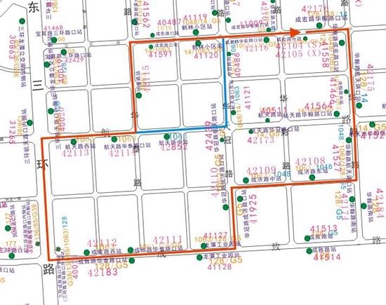 成都龙潭工业园部分道路改造施工 12月15日起这4条公交线路有