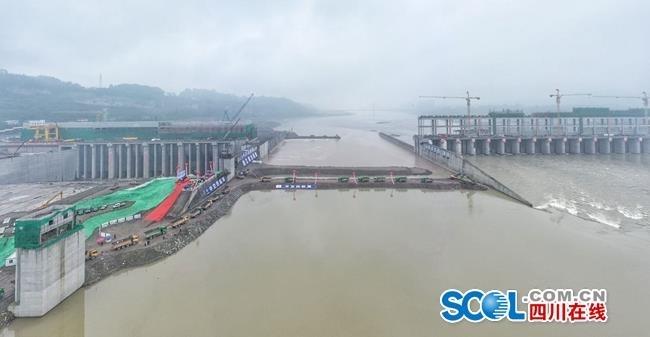 岷江犍为航电枢纽工程库区14日14时起开始试航蓄水