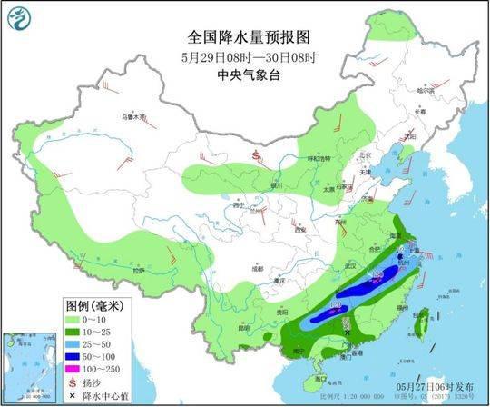 云南四川等地仍有较强降水 北方地区多大风天气