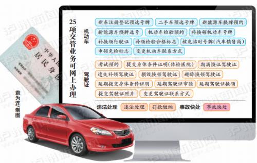 泸州这16项车驾管业务 只需一张身份证就可搞定