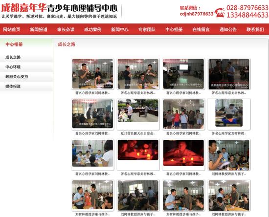 """""""嘉年华""""官网宣传刘树林的材料。 """"嘉年华""""官网截图"""