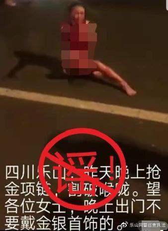 8月12日,乐山市公安局对岷江二桥女子被刺伤事件发布通报。
