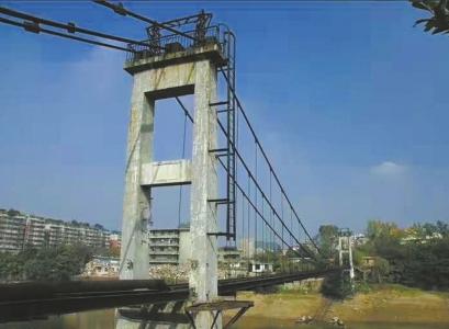 东兴寺铁索桥将复建 明年3月自贡市民可上桥体验