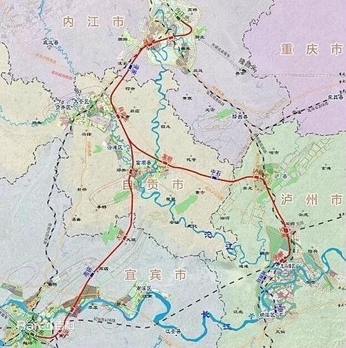 川南城际铁路 示意图